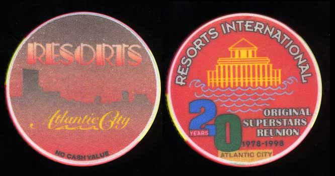 RES-0 Resorts NCV 20 Years Private Party Chip Red