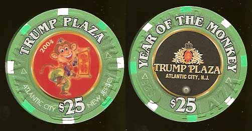 TPP-25k $25 Year of the Monkey Trump Plaza