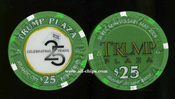 TPP-25s $25 Trump Plaza Celebrating 25 Years