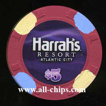 HAR-5n $5 Harrahs Resort New Rack 2013