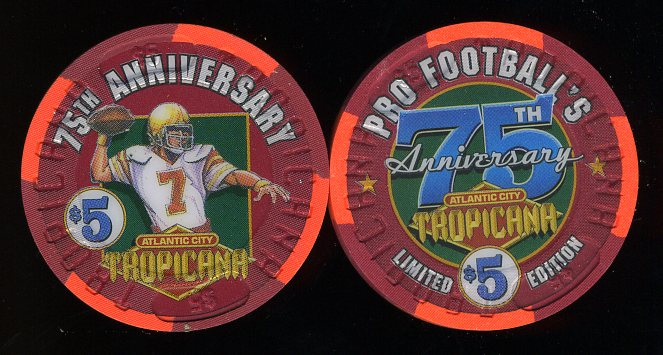 TRO-5i Tropicana Superbowl Pro Footballs 75th Anniversary