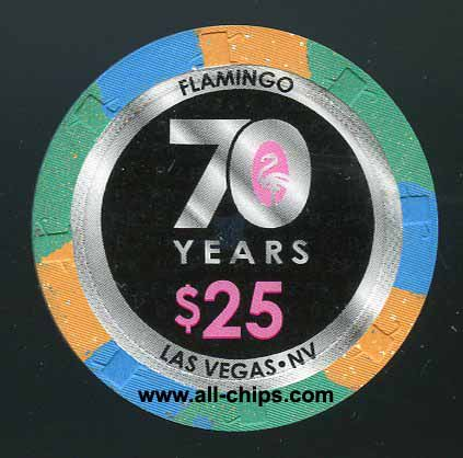 $25 Flamingo 70 Years 2016