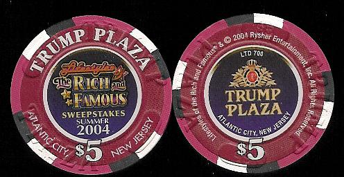 TPP-5af Trump Plaza $5 Lifestyles of the Rich and Famous 2004
