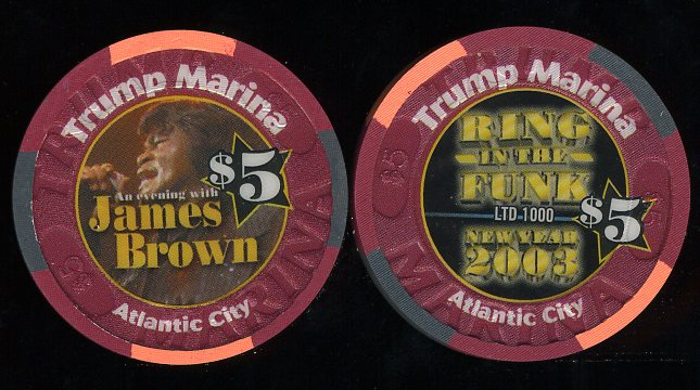 MAR-5y Trump Marina New Year 2003 James Brown Ring in the Funk