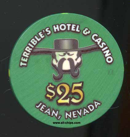 $25 Terrible's 1st issue Jean, NV.