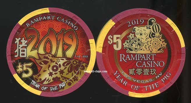 $5 Rampart Chinese New Year of the Pig