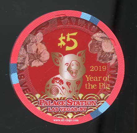 $5 Palace Station Chinese New Year of the Pig #1 of 2