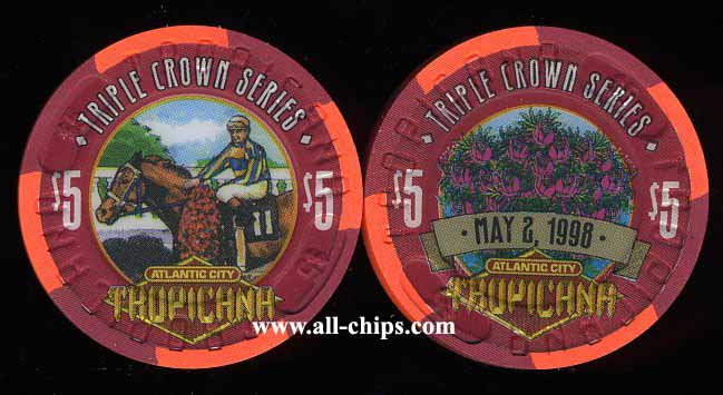 TRO-5m $5 Tropicana Triple Crown Series Kentucky Derby May 2, 1998 Run for the Roses