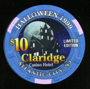 CLA-10d $10 Claridge Halloween 1999 Haunted House