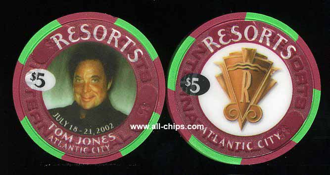 RES-5n $5 Resorts Tom Jones July 2002